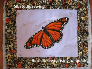 Monarch butterfly painted and ready to quilt   sibstudio blog