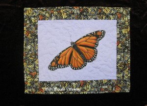 Monarch butterfly wall hanging by kathy sibley