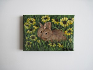 Bunnies and black eyed susans  sibstudio dot com blog