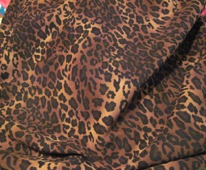 cheetah suedecloth