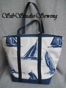 Blue and white sailboats tote by sibstudiosewing at etsy _5708   blog