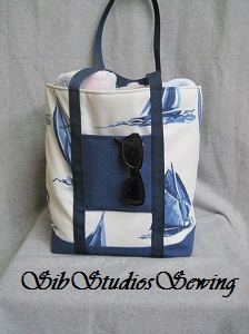 Sailboat tote by sibstudiosewing