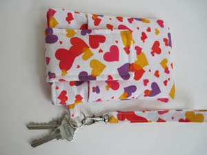 Colorful Hearts Smartphone Wristlet