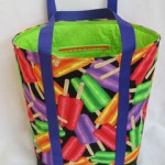 Lime green quilted interior with 8 pockets