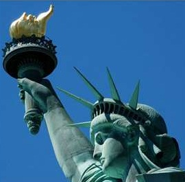 Torch and Crown of Statue of Liberty