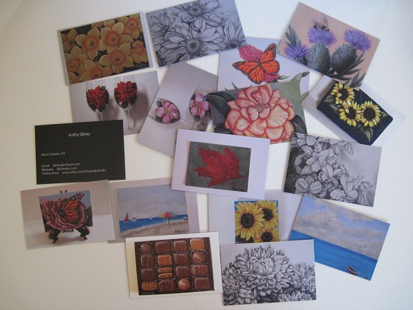 Business cards from MOO