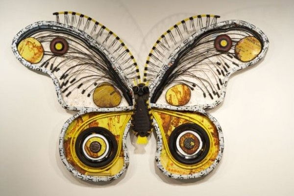 Recycled art butterfly